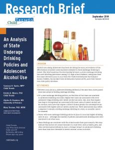 An Analysis of State Underage Drinking Policies and Adolescent ...