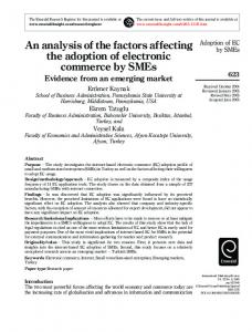An analysis of the factors affecting the adoption of electronic ...