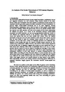 An Analysis of the Gender Determinants of UK Graduate ... - Core