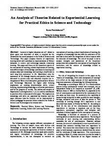 An Analysis of Theories Related to Experiential Learning for Practical