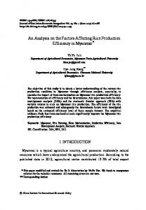 An Analysis on the Factors Affecting Rice Production Efficiency ... - ZBW