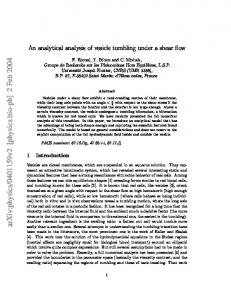 An analytical analysis of vesicle tumbling under a shear flow