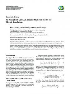 An Analytical Gate-All-Around MOSFET Model for Circuit Simulation