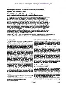An analytical solution for tidal fluctuations in ... - Wiley Online Library