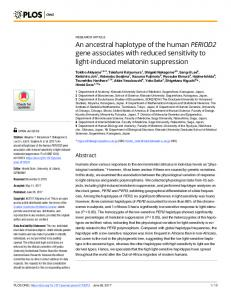 An ancestral haplotype of the human PERIOD2