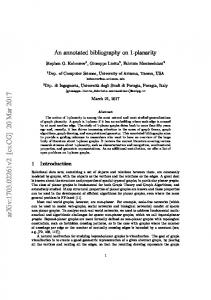 An annotated bibliography on 1-planarity