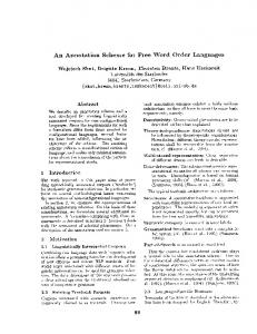 An Annotation Scheme for Free Word Order Languages