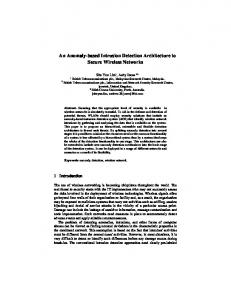 An Anomaly-based Intrusion Detection ... - Semantic Scholar