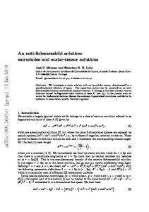 An anti-Schwarzshild solution: wormholes and scalar-tensor solutions