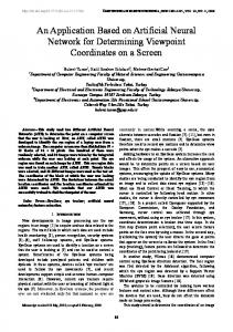An Application Based on Artificial Neural Network for Determining ...