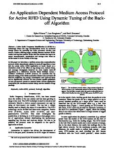 An Application Dependent Medium Access Protocol for Active RFID ...