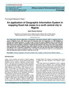 An application of Geographic Information System ... - Academic Journals