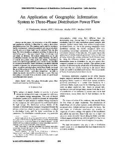 An Application of Geographic Information System to Three-Phase ...