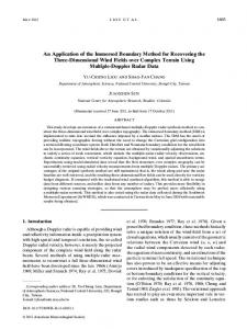 An Application of the Immersed Boundary Method for Recovering the ...