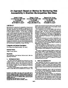 An Approach based on Metrics for Monitoring Web ... - Semantic Scholar