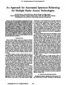An Approach for Automated Spectrum Refarming for ... - IEEE Xplore