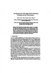 An Approach for FIPA Agent Service Discovery in Mobile ... - CiteSeerX