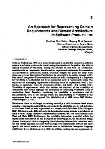 An Approach for Representing Domain ... - Semantic Scholar