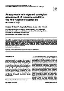 An approach to integrated ecological assessment of ... - Science Direct