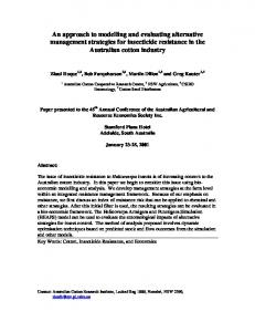 An approach to modelling and evaluating alternative ... - AgEcon Search