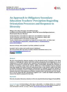 An Approach to Obligatory Secondary Education ... - Semantic Scholar