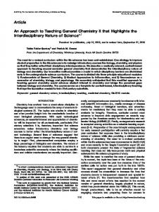 An approach to teaching general chemistry II ... - Wiley Online Library