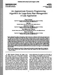 An Approximate Dynamic Programming Algorithm for ... - CASTLE Lab