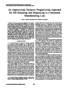 An Approximate Dynamic Programming Approach for Job Releasing ...