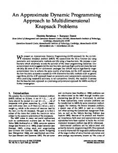 An Approximate Dynamic Programming Approach ... - Semantic Scholar