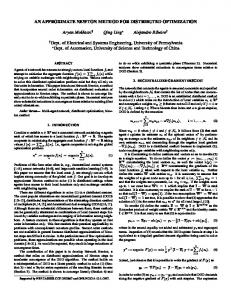 AN APPROXIMATE NEWTON METHOD FOR ... - Penn Engineering