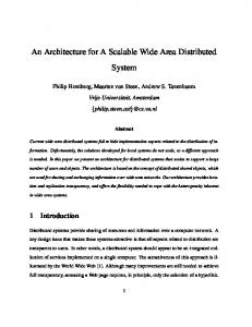 An Architecture for A Scalable Wide Area Distributed System - CiteSeerX