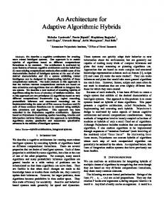 An Architecture for Adaptive Algorithmic Hybrids