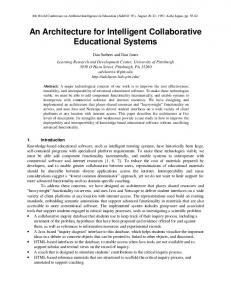 An Architecture for Intelligent Collaborative Educational ... - CiteSeerX