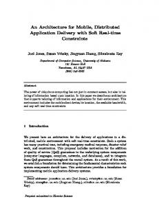 An Architecture for Mobile, Distributed Application ... - CiteSeerX