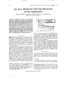 An area model for on-chip memories and its application ... - IEEE Xplore