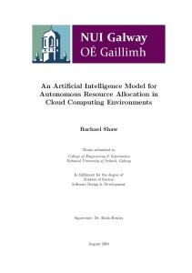 An Artificial Intelligence Model for Autonomous Resource Allocation in