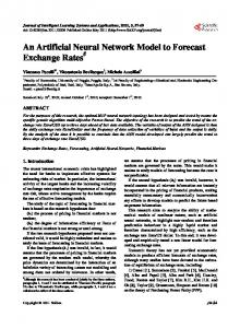 An Artificial Neural Network Model to Forecast Exchange Rates