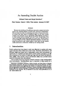 An Ascending Double Auction