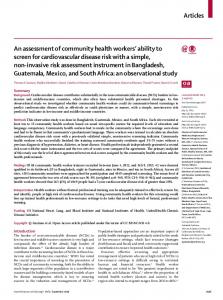 An assessment of community health workers' ability to ... - The Lancet