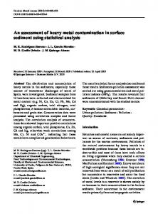 An assessment of heavy metal contamination in ... - Springer Link