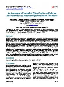 An Assessment of Irrigation Water Quality and Selected Soil ...