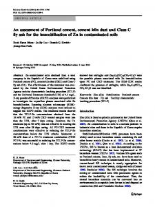 An assessment of Portland cement, cement kiln dust ... - Springer Link