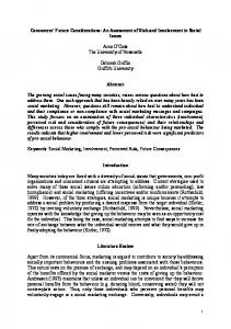 An Assessment of Risk and Involvement in Social Issues ... - CiteSeerX