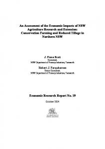 An Assessment of the Economic Impacts of NSW ... - AgEcon Search