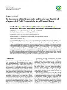 An Assessment of the Genotoxicity and Subchronic Toxicity of a