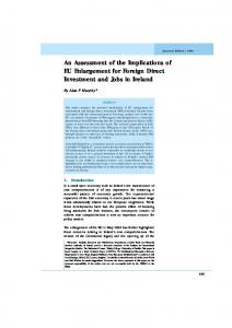 An Assessment of the Implications of EU Enlargement for ... - Core
