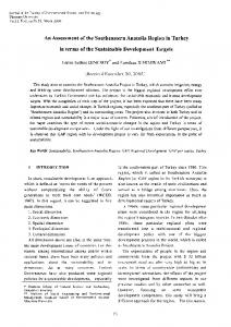An Assessment of the Southeastern Anatolia Region in Turkey ... - Core