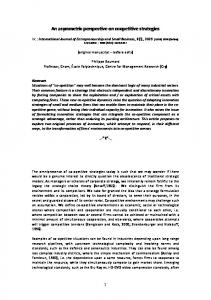 An asymmetric perspective on coopetitive strategies