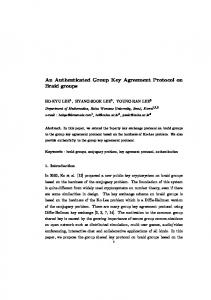 An Authenticated Group Key Agreement Protocol ... - Semantic Scholar