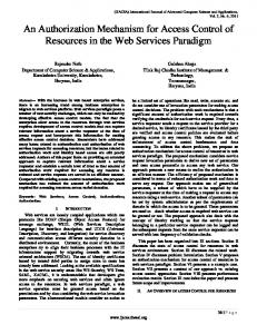 An Authorization Mechanism for Access Control of ... - Semantic Scholar